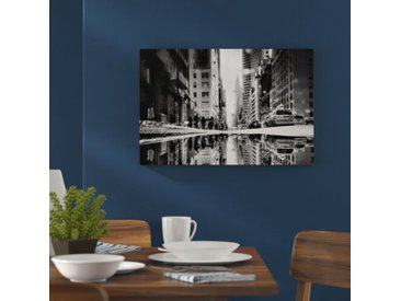 Leinwandbild New York Times Square in Monochrom