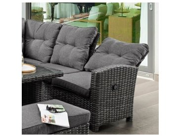 9-Sitzer Lounge-Set Wimbush aus Rattan mit Polster