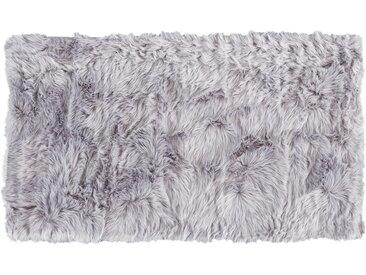 HOME STORY Hochflorteppich - grau - 100% Polyacryl, Synthethische Fasern - 120 cm - Sconto