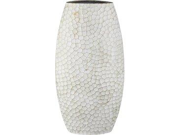 Vase - weiß - Metall - Sconto