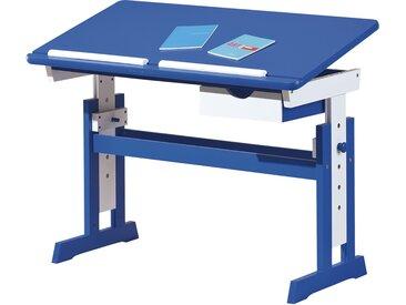Schreibtisch  Loire - blau - 109 cm - 63 cm - 55 cm - Sconto