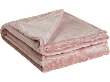 HOME STORY Flanelldecke  Deluxe - rosa/pink - 100% Polyester - Sconto