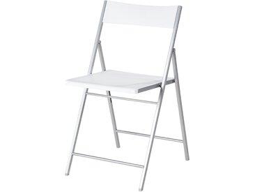 Klappstuhl - weiß - Sconto