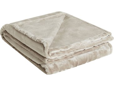 HOME STORY Flanelldecke  Deluxe - beige - 100% Polyester - Sconto