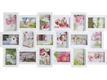 Bilderrahmen Collage 18er - weiß - Kunststoff - 90 cm - 46 cm - Sconto