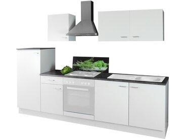 Küchenblock ohne Elektrogeräte  Germany - weiß - 270 cm - Sconto