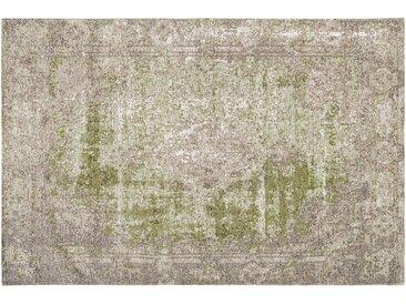 Kurzflorteppich - grün - Synthethische Fasern, 34% Baumwolle, 33% Polyester, 33% Polyacryl Chenille - 130 cm - Sconto