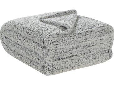 LAVIDA Fleecedecke  Teddy - grau - 100% Polyester - Sconto