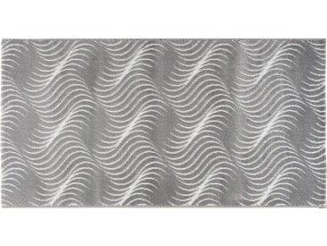 Webteppich  Enna - grau - Synthethische Fasern, 90% Polyethylen 10% Lurex - 160 cm - Sconto