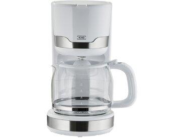 KHG Kaffeeautomat - weiß - Edelstahl, Glas , Kunststoff - Sconto