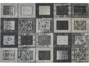 Webteppich  Harmonie - grau - Synthethische Fasern, 34% Polyacryl Chenille, 33% Baumwolle, 33% Polyester - 130 cm - Sconto