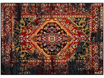 Kurzflorteppich - mehrfarbig - Synthethische Fasern, 100% Polypropylen heatset frisée - 133 cm - Sconto