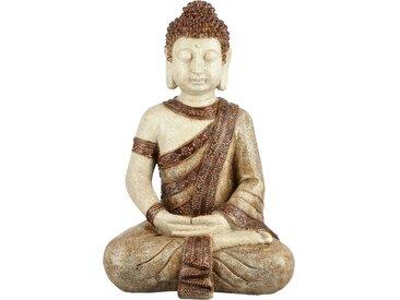 Deko Buddha - braun - Polyresin (Kunstharz) - 25,5 cm - 38 cm - 19 cm - Sconto