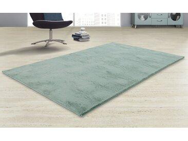 Hochflorteppich - grün - Synthethische Fasern - Sconto