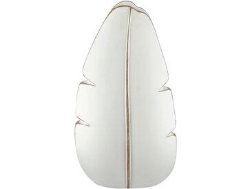 Vase - weiß - Polyresin (Kunstharz) - Sconto