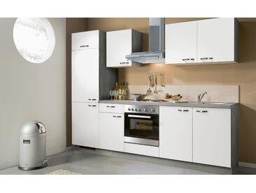 Küchenzeile mit Elektrogeräten  Brügge - weiß - Sconto