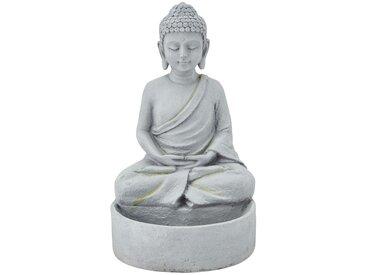 Deko Buddha - grau - Polyresin (Kunstharz) - 23,2 cm - 32,5 cm - 21 cm - Sconto