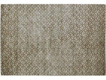 Kurzflorteppich - braun - Synthethische Fasern - Sconto
