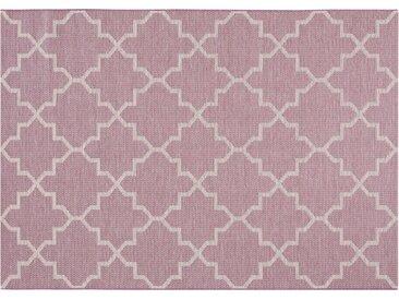 HOME STORY Kurzflorteppich - lila/violett - Synthethische Fasern - Sconto