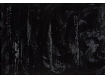 Hochflorteppich - schwarz - Synthethische Fasern - Sconto