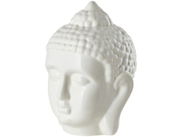 Buddha Kopf - weiß - Porzellan - 9 cm - 13,5 cm - 10 cm - Sconto