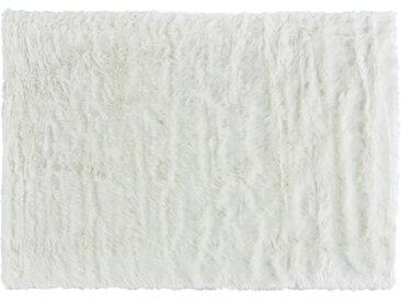 HOME STORY Hochflorteppich - weiß - Synthethische Fasern - Sconto