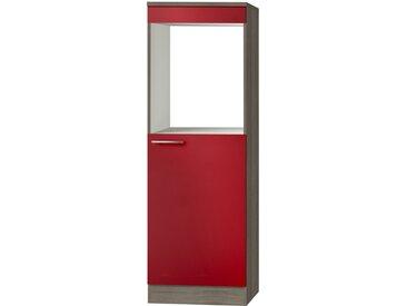 Umbauschrank für Backofen und Kühlschrank  Imola - rot - 30 cm - 174,4 cm - 58 cm - Sconto