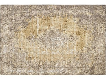Kurzflorteppich - gelb - Synthethische Fasern, 34% Baumwolle, 33% Polyester, 33% Polyacryl Chenille - 80 cm - Sconto