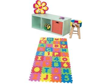 Kinderteppich  Puzzle - mehrfarbig - Sconto