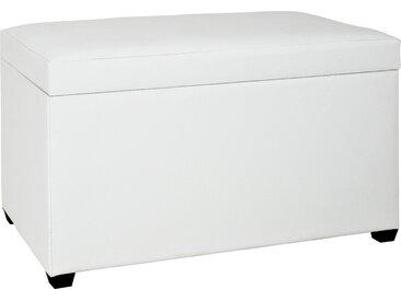 Sitztruhe  Haby - weiß - 65 cm - 42 cm - 40 cm - Sconto