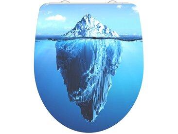 "WC-Sitz ""Iceberg"" - blau - 38,2 cm - 47,6 cm - Sconto"