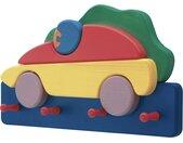 Kindergarderobe  Rennauto - mehrfarbig - 37 cm - 21 cm - 7 cm
