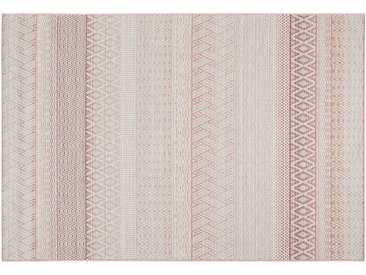HOME STORY Outdoor Teppich - rot - Synthethische Fasern - Sconto