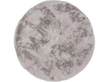 SCHÖNER WOHNEN Hochflorteppich - grau - 100% Polyester, Synthethische Fasern - Sconto