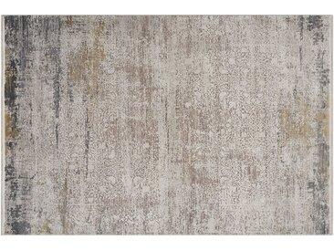 Kurzflorteppich - grau - Synthethische Fasern, 50% Viskose, 50% Acryl - 80 cm - Sconto