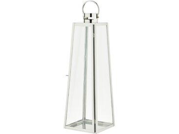 Laterne - silber - Glas , Stahl - 23 cm - 70 cm - 23 cm - Sconto