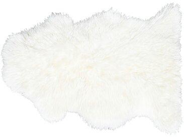 Lammfell - weiß - Synthethische Fasern, 100% Lammfell - 63 cm - Sconto
