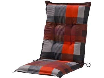 GO-DE Mittellehnerauflage - rot - Druckstoff, 50% Baumwolle, 50% Polyester - 50 cm - 7 cm - Sconto
