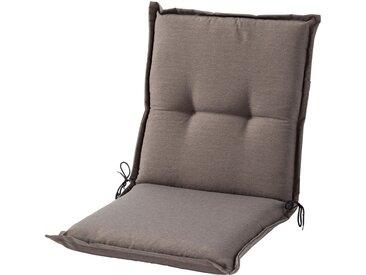 GO-DE Niederlehnerauflage - grau - garngefärbtes Uni, 60% Baumwolle, 40% Polyester - 50 cm - 7 cm - Sconto