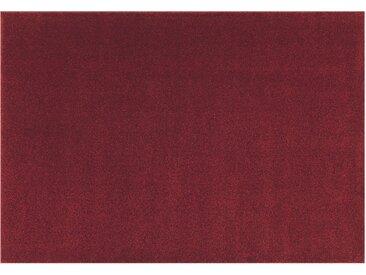 Hochflorteppich - rot - Synthethische Fasern - Sconto
