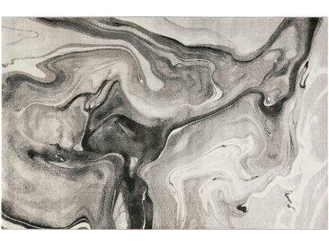 Kurzflorteppich - grau - Synthethische Fasern, 100% Polypropylen - 80 cm - Sconto