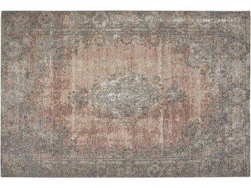 Kurzflorteppich - rosa/pink - Synthethische Fasern, 34% Baumwolle, 33% Polyester, 33% Polyacryl Chenille - 68 cm - Sconto