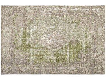 Kurzflorteppich - grün - Synthethische Fasern - Sconto