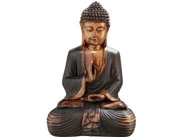 Deko-Buddha - braun - Polyresin (Kunstharz) - Sconto