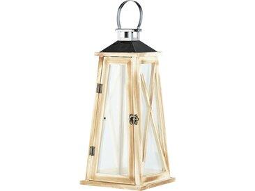 Laterne - holzfarben - Glas , Holz, Metall - 18,2 cm - 40,3 cm - 18 cm - Sconto