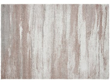 Hochflorteppich - rosa/pink - 100% Polypropylen, Synthethische Fasern - 135 cm - Sconto