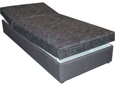 Polsterliege, Liegefläche ca. 90x200 cm  Stefi 2 - grau - 92 cm - 53 cm - 202 cm - Sconto