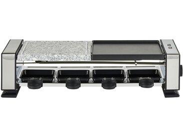 KHG Raclette-Grill - silber - Edelstahl, Kunststoff - 47 cm - 12 cm - 20 cm - Sconto