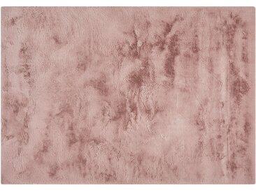 HOME STORY Hochflorteppich - rosa/pink - Synthethische Fasern - Sconto