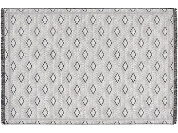 Outdoor Teppich - grau - 100% Polypropylen, Synthethische Fasern - 160 cm - Sconto